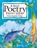 A Blue Poetry Paintbox book cover featured on Carte Blanche by Amelia Curzon