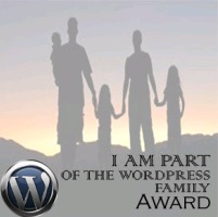 Wordpress Family Award Logo - Awarded to Carte Blanche by Amelia Curzon